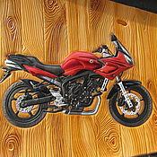 Картины и панно handmade. Livemaster - original item Yamaha leather painting. Handmade.