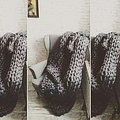 Для дома и интерьера ручной работы. Ярмарка Мастеров - ручная работа Супертолстый вязаный плед Kozaa`s Bags. Handmade.