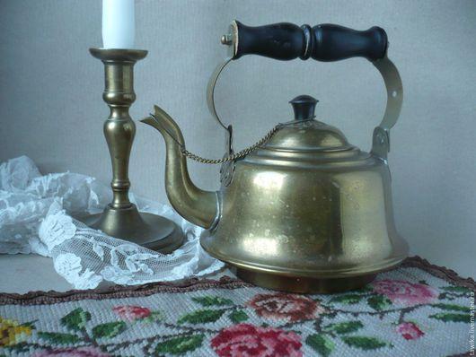 Винтажная посуда. Ярмарка Мастеров - ручная работа. Купить Чайник старинный,  винтажный. Медь, дерево. Германия/Австрия. Handmade. Чайник заварочный