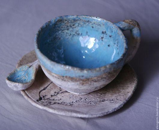 Сервизы, чайные пары ручной работы. Ярмарка Мастеров - ручная работа. Купить Керамическая чайная пара. Handmade. Керамика