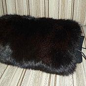 Аксессуары handmade. Livemaster - original item Coupling for a hand of black rabbit fur. Handmade.