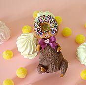 Куклы и игрушки ручной работы. Ярмарка Мастеров - ручная работа Шоколадный пончик. Handmade.