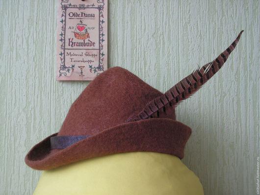 Шляпы ручной работы. Ярмарка Мастеров - ручная работа. Купить Тирольская шляпа. Handmade. Коричневый, Шляпа валяная, мужская шляпа