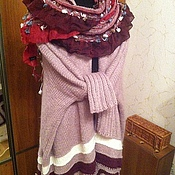 Одежда ручной работы. Ярмарка Мастеров - ручная работа Бохо-накидка. Handmade.