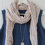 Аксессуары handmade. Livemaster - original item Cotton scarf-handkerchief in a small flower. Handmade.