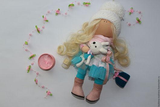 Коллекционные куклы ручной работы. Ярмарка Мастеров - ручная работа. Купить Интерьерная куколка с зайкой. Handmade. Интерьерная кукла, подарок