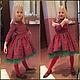 """Одежда для девочек, ручной работы. Платье """"Очаровательная клеточка"""". Yansons Domik (yansonsdomik). Ярмарка Мастеров. Платье в клетку, детская одежда"""