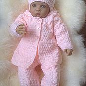 Вязание для новорожденных костюмчик для девочки 22