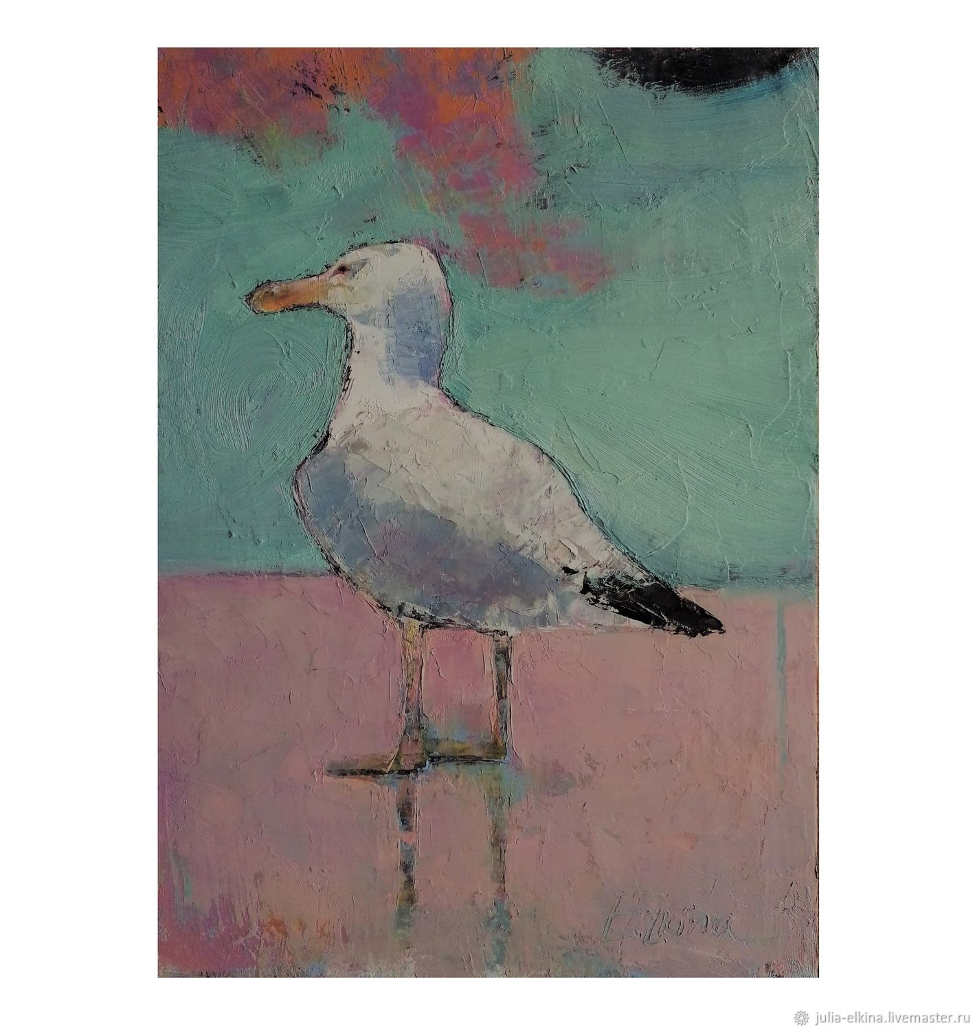 Another seagull. Oil on cardboard with canvas, Pictures, Voronezh,  Фото №1