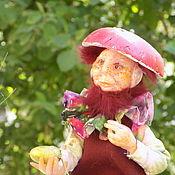 Куклы и игрушки ручной работы. Ярмарка Мастеров - ручная работа Гном, Гном Гриб, Лесной Гном, Старичек Бордовичек. Handmade.