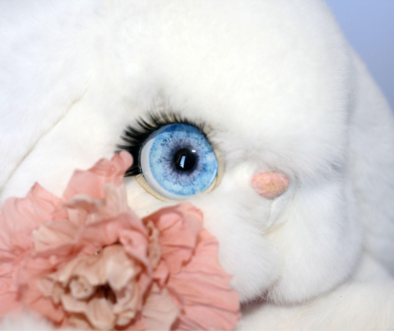 Белый Зайка игрушка из натурального меха, Игрушки, Москва, Фото №1