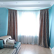 Для дома и интерьера handmade. Livemaster - original item Curtains made of chenille with a pattern. Handmade.