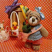 Куклы и игрушки ручной работы. Ярмарка Мастеров - ручная работа Мишка с сумкой. Handmade.