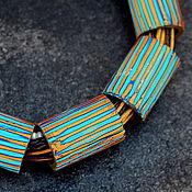 Украшения ручной работы. Ярмарка Мастеров - ручная работа украшение колье из полимерной глины  уютная африка 6. Handmade.