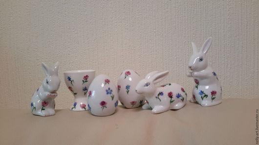 Подарки на Пасху ручной работы. Ярмарка Мастеров - ручная работа. Купить Пасхальные зайчики, яйца, подставки под яйцо. Handmade.