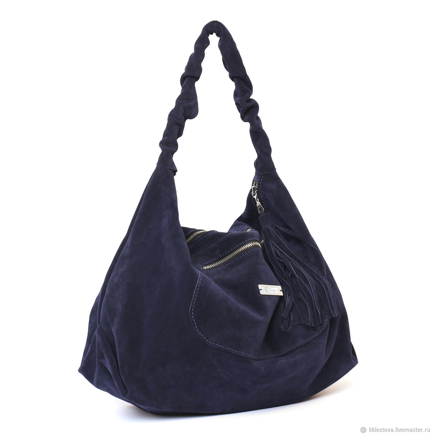 d5ea724fa2 Handbags handmade. Livemaster - handmade. Buy Blue large soft hobo Bag  shopper Bag suede ...