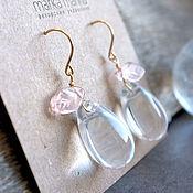 Украшения handmade. Livemaster - original item Spring earrings made of Czech glass Bloom. Handmade.