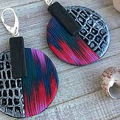 Earrings handmade. Livemaster - original item Chic earrings with BOWKNOT. Handmade.