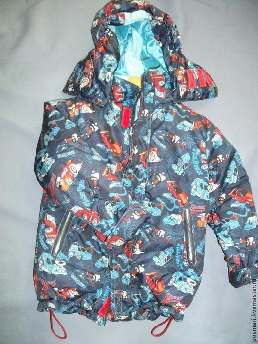 Одежда для мальчиков, ручной работы. Ярмарка Мастеров - ручная работа. Купить Курточка для мальчика демисезонная. Handmade. Разноцветный, дюспа, молния