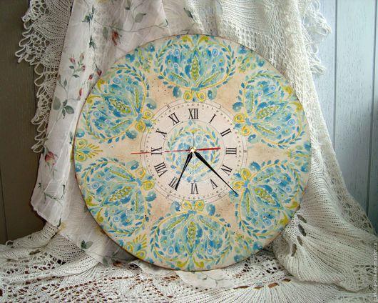 """Часы для дома ручной работы. Ярмарка Мастеров - ручная работа. Купить Часы """"Восточные узоры"""". Handmade. Большие часы, подарок"""