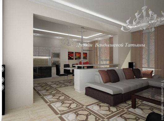 Дизайн интерьеров ручной работы. Ярмарка Мастеров - ручная работа. Купить Дизайн гостиной комнаты. Handmade. Дизайн интерьера