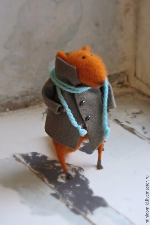 Игрушки животные, ручной работы. Ярмарка Мастеров - ручная работа. Купить Осенняя прогулка. Handmade. Рыжий, миниатюра