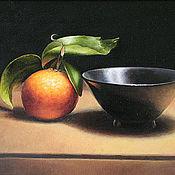 """Картины и панно ручной работы. Ярмарка Мастеров - ручная работа Картина маслом """"Апельсин"""". Handmade."""