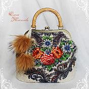 Сумки и аксессуары handmade. Livemaster - original item Bag Russian winter 2 felted wool scarf. Handmade.