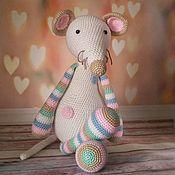 Мягкие игрушки ручной работы. Ярмарка Мастеров - ручная работа Вязаный мышонок Пин. Handmade.