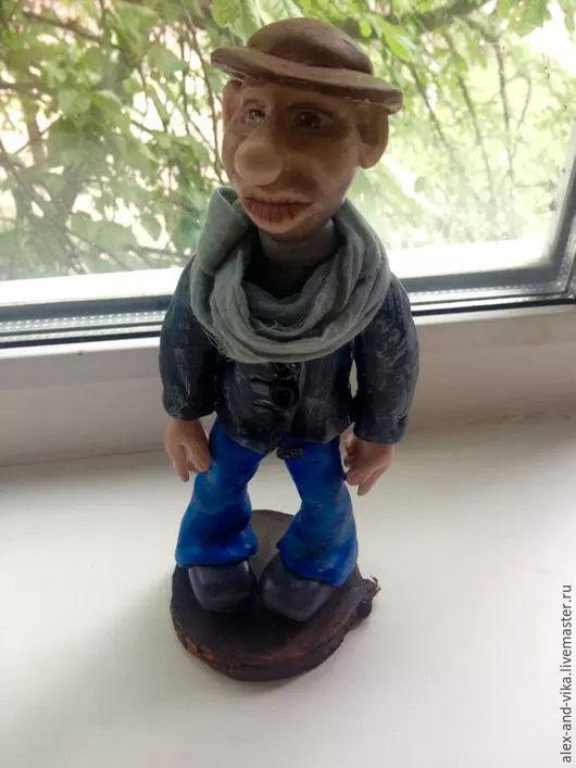 Коллекционные куклы ручной работы. Ярмарка Мастеров - ручная работа. Купить Холостяк. Handmade. Темно-серый, статуэтка ручной работы