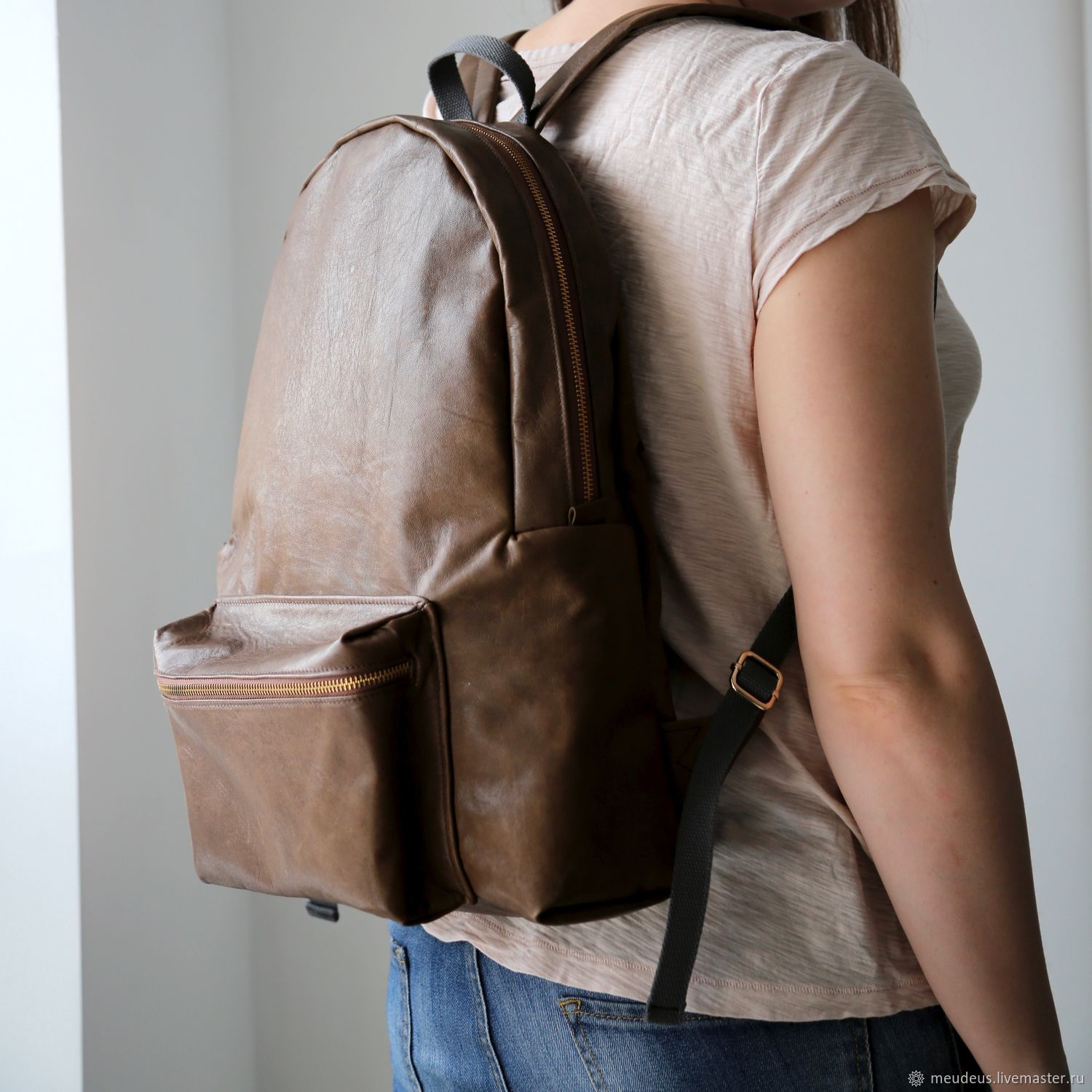 Backpacks handmade. Livemaster - handmade. Buy Backpack 'David' made of genuine leather olive color art. Four hundred sixty three.