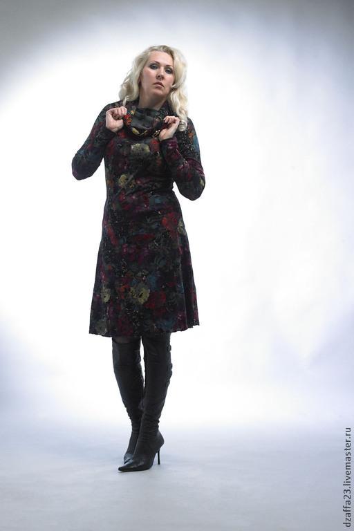 Платья ручной работы. Ярмарка Мастеров - ручная работа. Купить платье шерстяное. Handmade. Разноцветный, шерстяное платье, повседневное платье