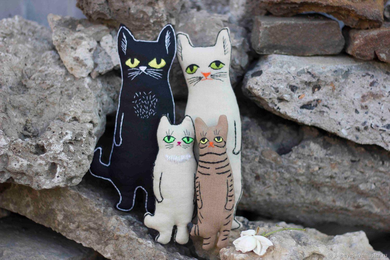 Коты семья, Мягкие игрушки, Липецк,  Фото №1