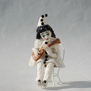 """Для дома и интерьера ручной работы. Ярмарка Мастеров - ручная работа """"Пьеро"""".Фарфоровая статуэтка. Handmade."""