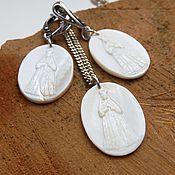 Украшения handmade. Livemaster - original item Pendant and earrings Holy Defender. Handmade.