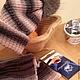 """Шапки ручной работы. Заказать Комплект шапка с шарфом """"Пушистые линии"""". Шапка женская. Шапка с помпо. Elena REMI /  elenaremi. Ярмарка Мастеров."""