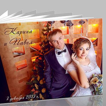 """Дизайн и реклама ручной работы. Ярмарка Мастеров - ручная работа Свадебная фотокнига """"под ключ"""". Handmade."""