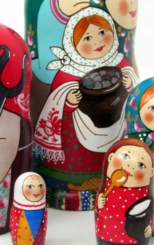 """Матрешки ручной работы. Ярмарка Мастеров - ручная работа. Купить Матрешка """"С чугунком"""".. Handmade. Матрешка, подарок, красный цвет"""
