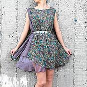 Одежда ручной работы. Ярмарка Мастеров - ручная работа Платье с цветочным рисунком. Handmade.