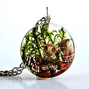 Украшения handmade. Livemaster - original item Epoxy resin pendant with shells. Handmade.