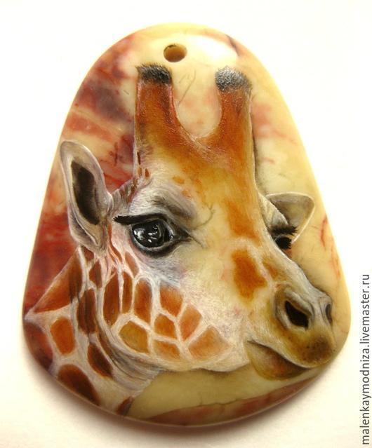 """Кулоны, подвески ручной работы. Ярмарка Мастеров - ручная работа. Купить Кулоны """"Жираф"""" 1, 2, 3. Handmade. Бежевый"""