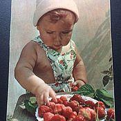 Винтаж ручной работы. Ярмарка Мастеров - ручная работа Открытка винтаж 1964  И. Шагин Вкусные ягоды. Handmade.