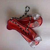 Обувь ручной работы. Ярмарка Мастеров - ручная работа Тапки -балетки -Лосось-. Handmade.