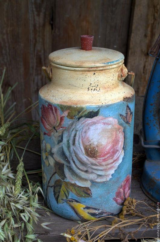 Графины, кувшины ручной работы. Ярмарка Мастеров - ручная работа. Купить Бидон Роскошный сад в стиле Винтаж для дома. для дачи. Handmade.