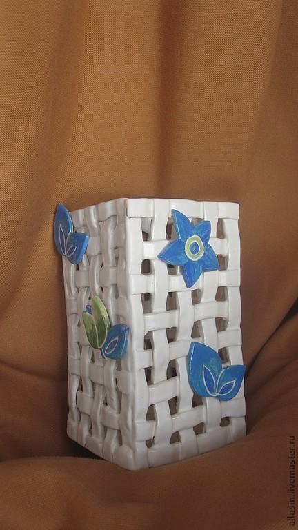 Ванная комната ручной работы. Ярмарка Мастеров - ручная работа. Купить Керамическая подставка для расчесок/зубных щеток. Handmade. Керамика