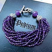 Украшения handmade. Livemaster - original item Bracelet with amethysts. Handmade.
