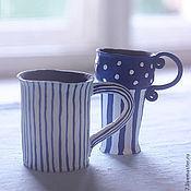 """Посуда ручной работы. Ярмарка Мастеров - ручная работа кружки """"Утро в Провансе"""". Handmade."""