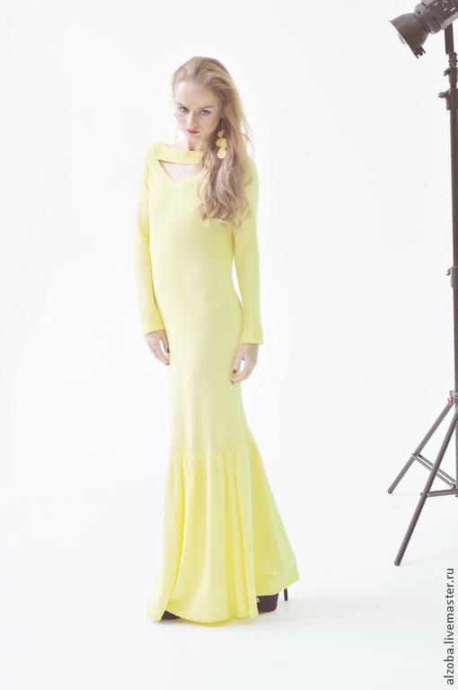 длинное вязаное платье купить в интернет магазине на ярмарке