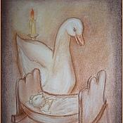 Картины и панно ручной работы. Ярмарка Мастеров - ручная работа Сказка о глупом мышонке.. Handmade.