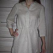Одежда ручной работы. Ярмарка Мастеров - ручная работа Платье-рубашка с капюшоном. Handmade.